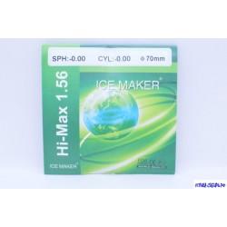 Линза HI-MAX -0.00 Ф70 индекс 1.56 (полим, а/б, EMI синий)